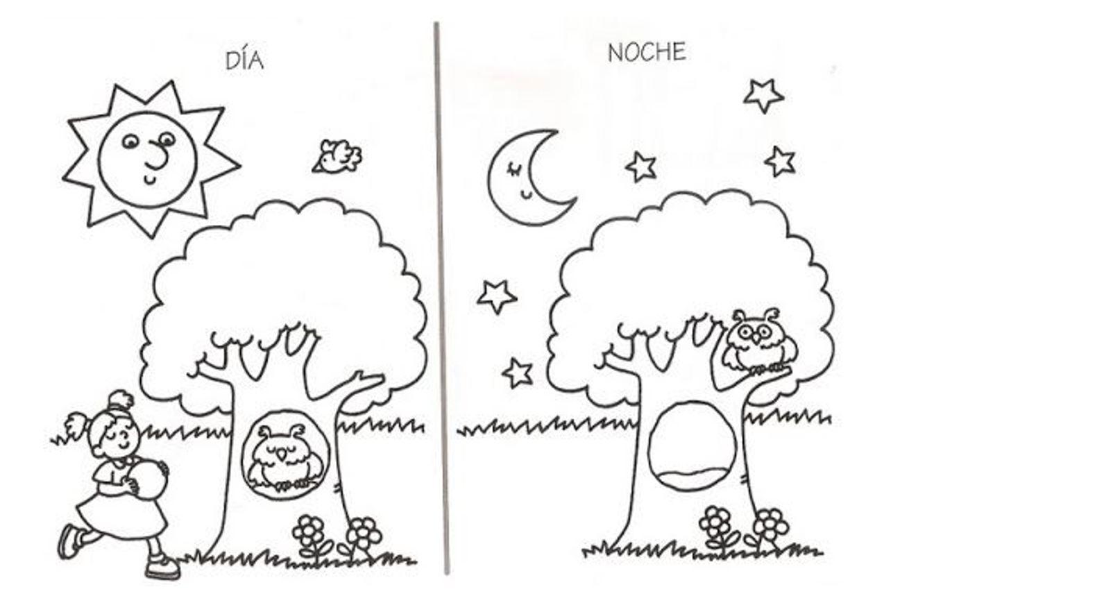 Día y noche - Curriculum Nacional. MINEDUC. Chile.