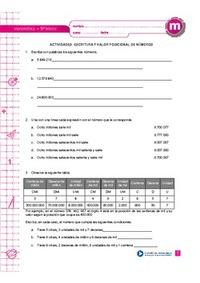 Escritura y valor posicional de números - Currículum en línea ...