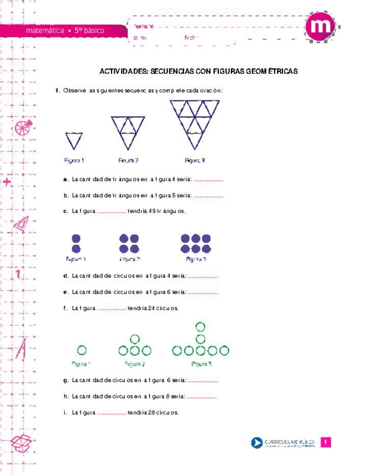 Actividades Secuencias Con Figuras Geometricas