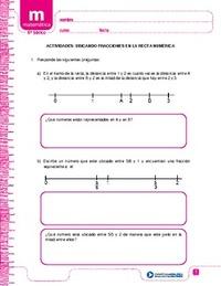 Ubicando fracciones en la recta numérica