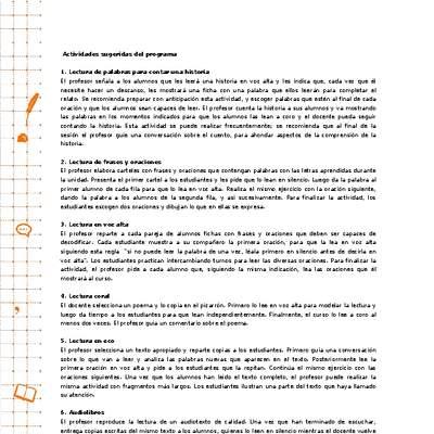 0924e8d9c4 Actividades sugeridas - Lenguaje y Comunicación - A. Curriculum ...