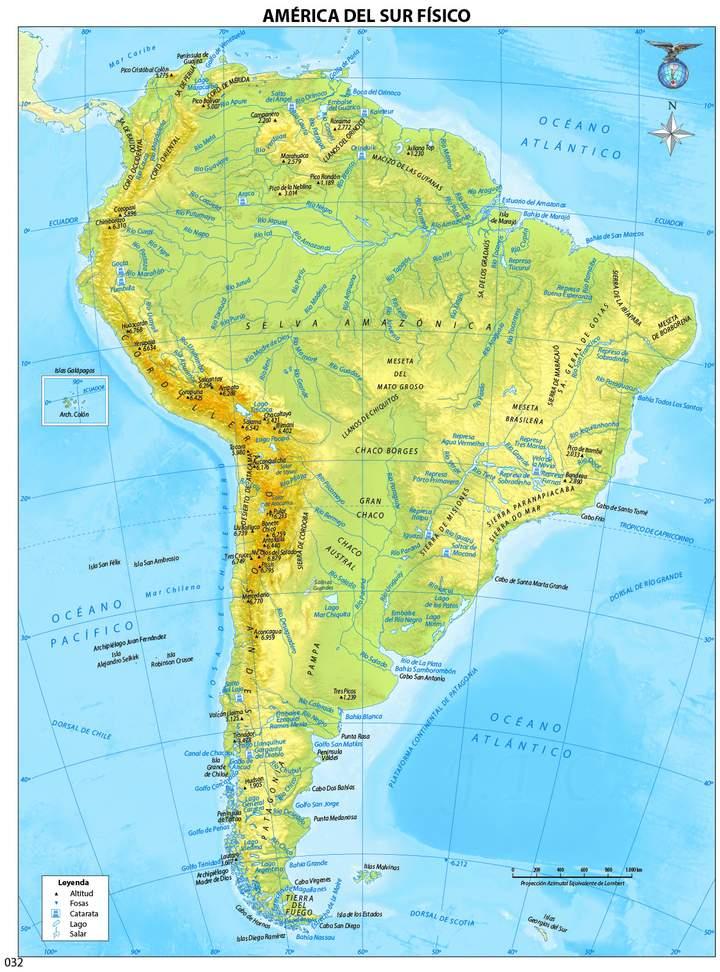 Mapa Geografico De Sudamerica.Mapa Politico De America Del Sur Curriculum Nacional Mineduc Chile