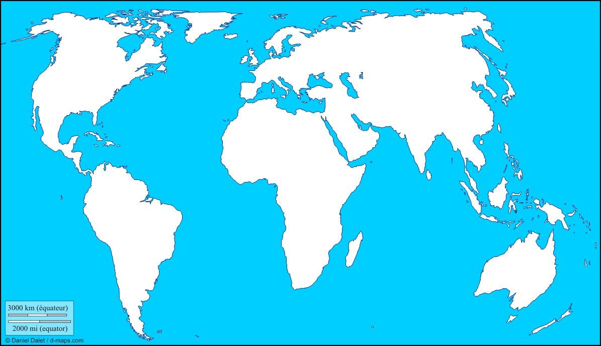 Mapa Del Mundo Mudo.Mapa Mudo Del Mundo Con Europa Al Centro Curriculum