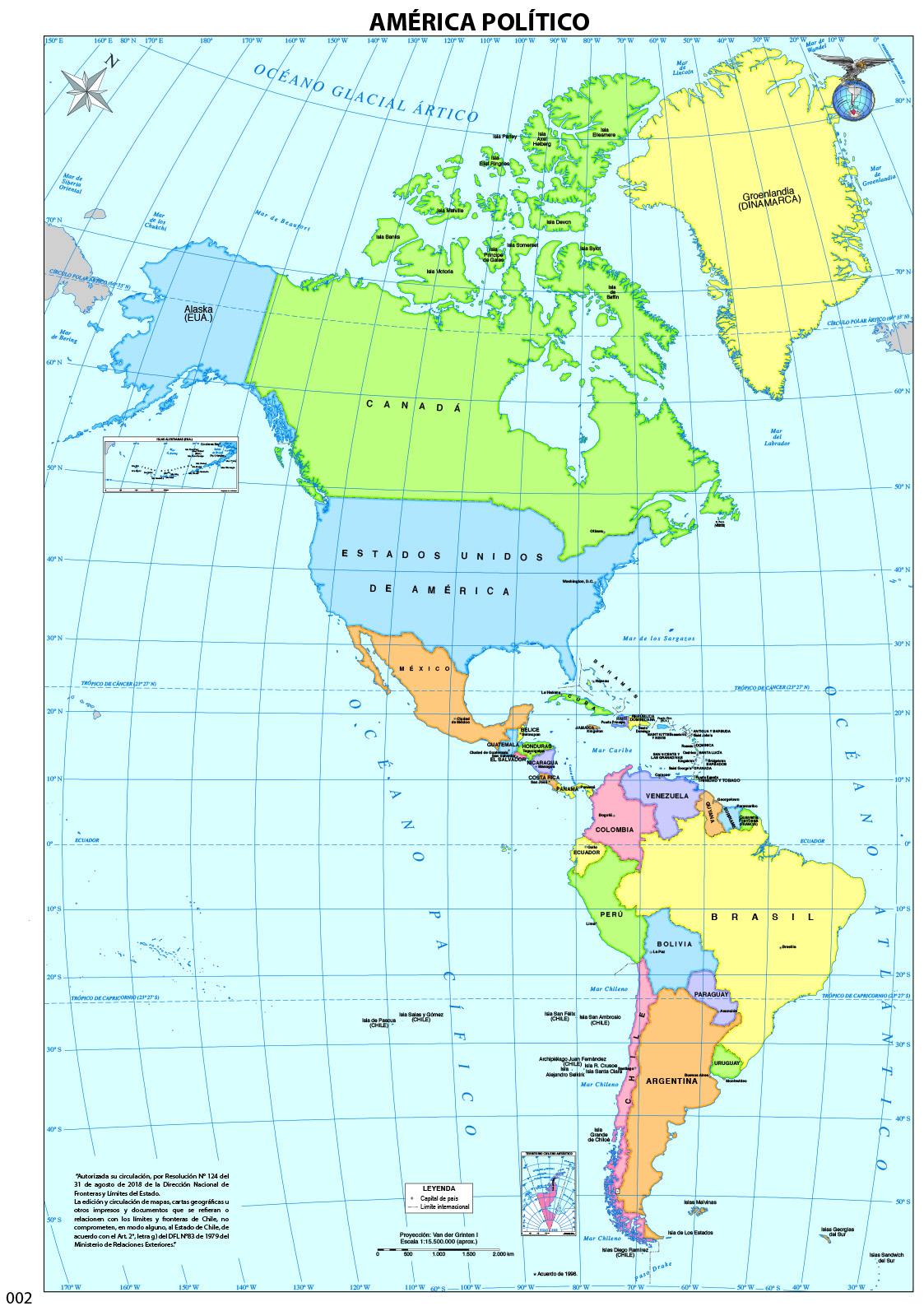 Mapa Amrica  Currculum en lnea MINEDUC Gobierno de Chile