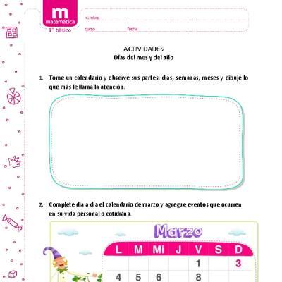 Meses Curriculum Nacional Mineduc Chile
