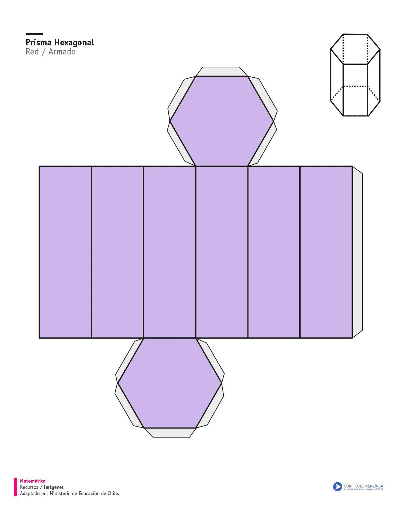 Red Bases For Living Room Decor: Red De Un Prisma Regular De Base Hexagonal