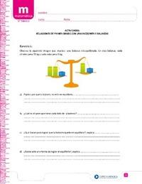 Ecuaciones y balanzas - Currículum en línea. MINEDUC. Gobierno de Chile.