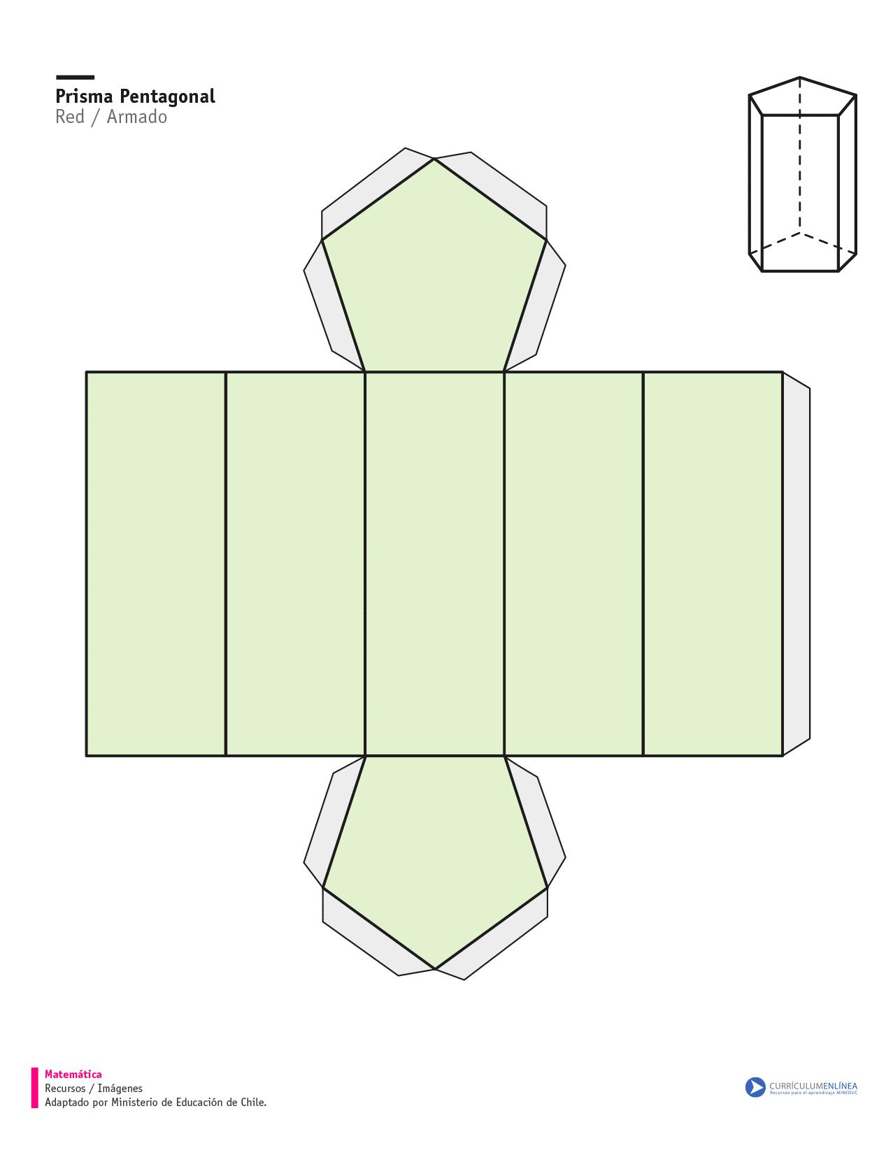 Red Bases For Living Room Decor: Red De Un Prisma De Base Pentagonal