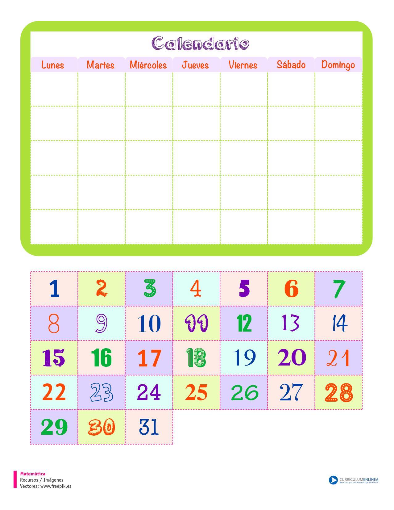 Calendario De Semanas.Calendario Curriculum Nacional Mineduc Chile