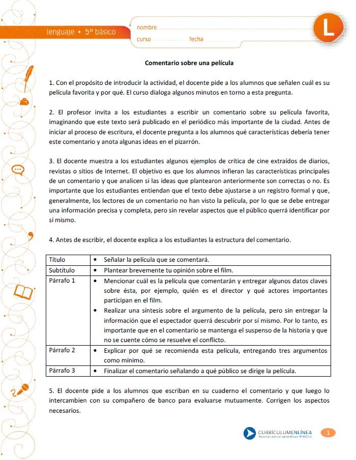 LE05 OAA E - Currículum en línea. MINEDUC. Gobierno de Chile.