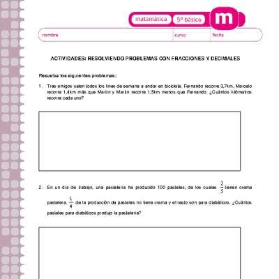 Resolviendo problemas con fracciones y decimales - Curriculum ...