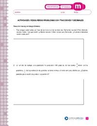 Resolviendo problemas con fracciones y decimales - Currículum en ...