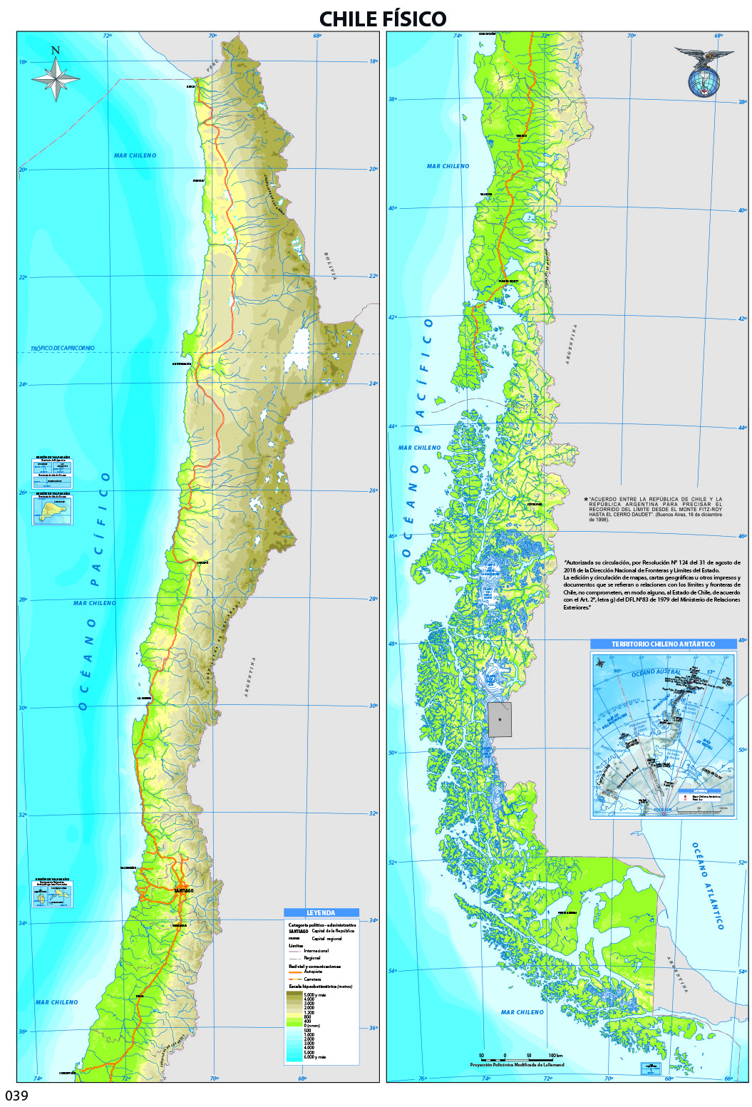 Mapa Con El Relieve De Chile Curriculum Nacional Mineduc Chile