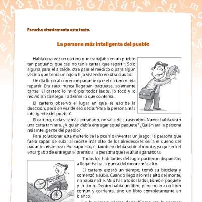 comprensión de lectura - Curriculum Nacional. MINEDUC. Chile.