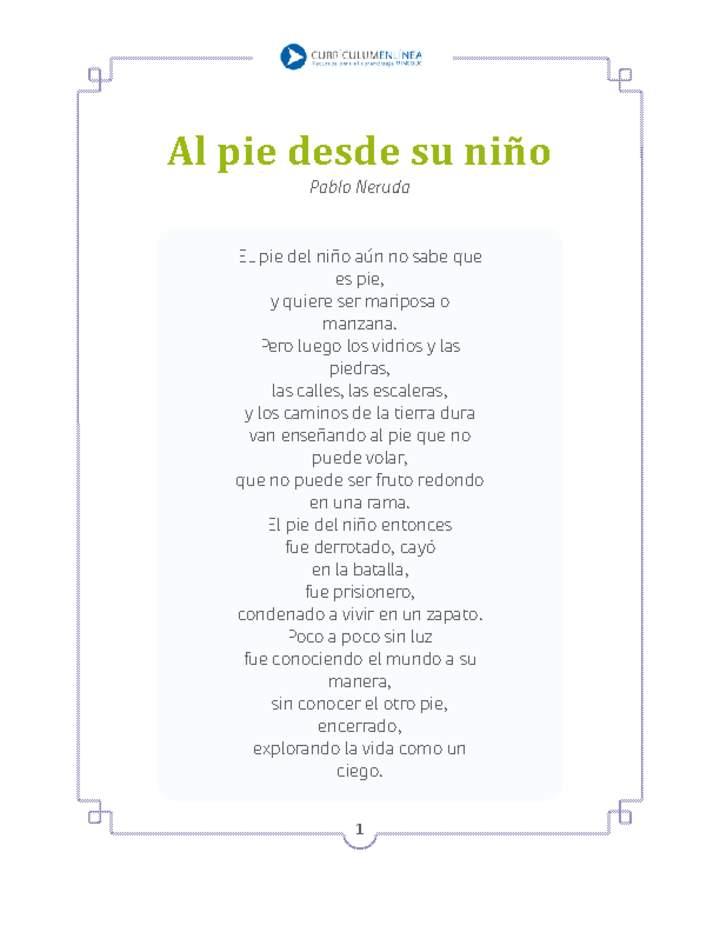 Al Pie Desde Su Niño Curriculum Nacional Mineduc Chile