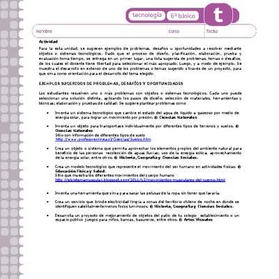 TE06 OA 03 - Curriculum Nacional. MINEDUC. Chile.
