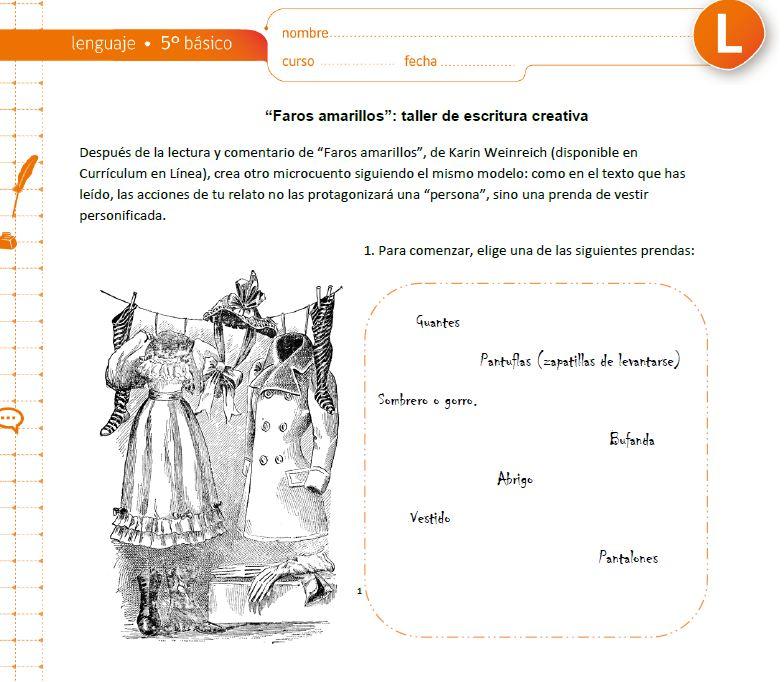 LE05 OA 14 - Currículum en línea. MINEDUC. Gobierno de Chile.