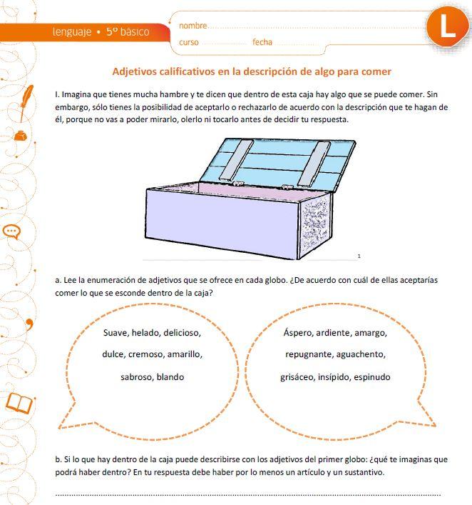 descripción - Currículum en línea. MINEDUC. Gobierno de Chile.