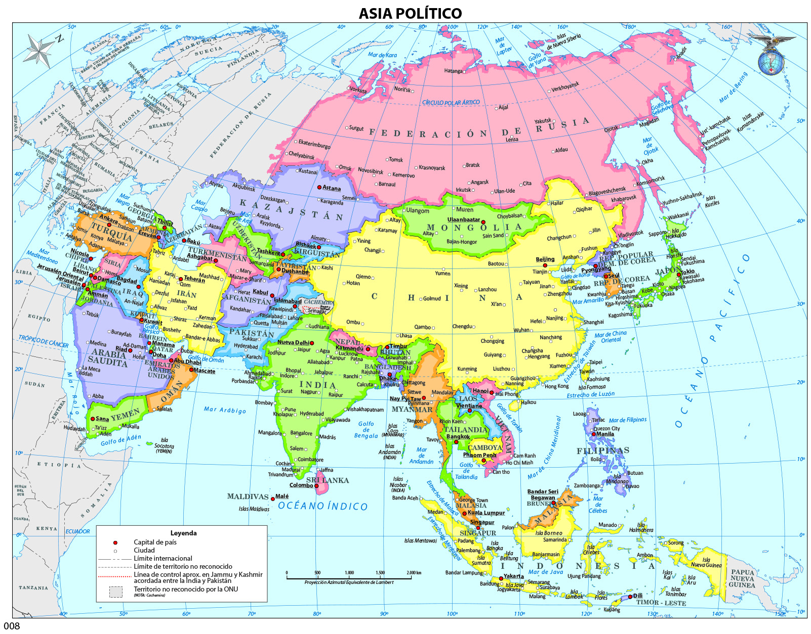 Mapa político de Asia - Curriculum Nacional. MINEDUC. Chile. on map of asia with asia, map of east asia only, mapa politica asia, lanzhou on a political map of asia, map of asia and america, 1940s map of europe and asia, map od asia, map of asia 2013, full map of asia, map of asia countries, whole map of asia,