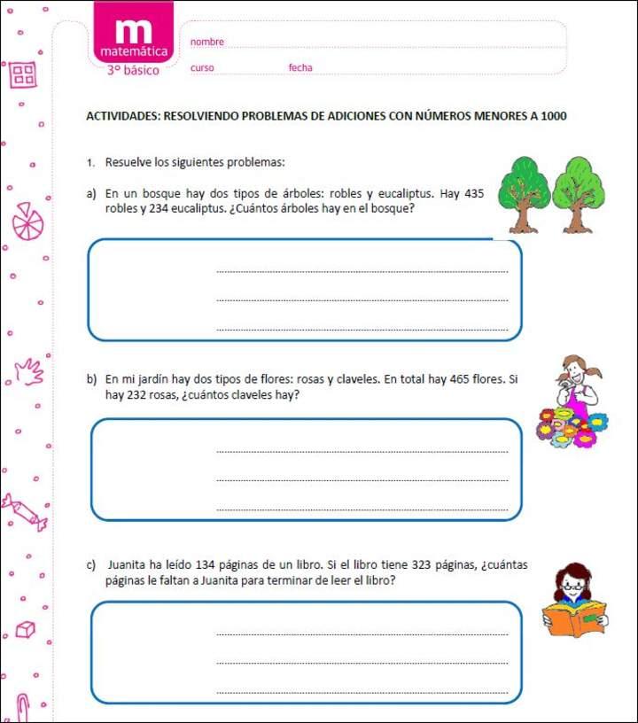 Resolviendo Problemas De Adiciones Con Numeros Menores A 1000 Curriculum Nacional Mineduc Chile
