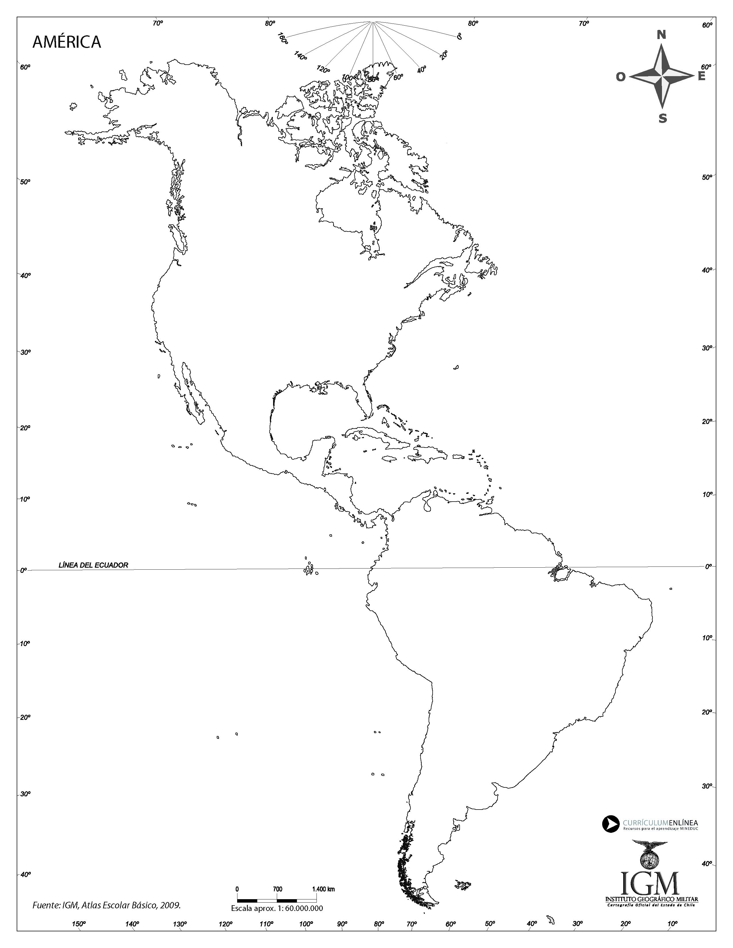 Mapa Mudo De America Curriculum Nacional Mineduc Chile