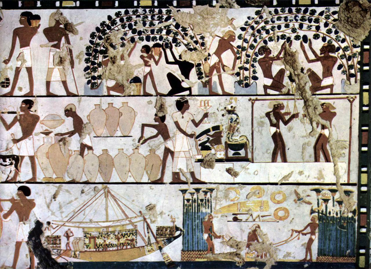 Mural Egipcio 1500 Ac Curriculum Nacional Mineduc Chile