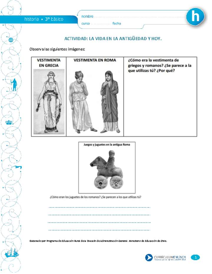 Vida Antigüedad Curriculum NacionalMineducChile La En Y Hoy tQrdsh