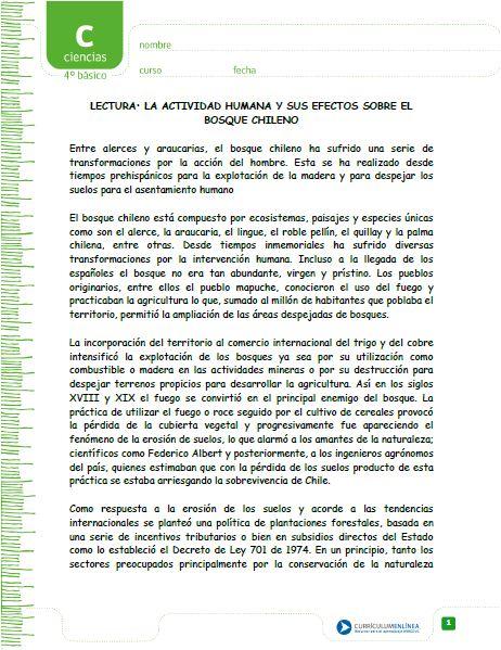 Lecturas alumno - Ciencias Naturales - Currículum en línea. MINEDUC ...