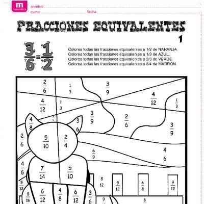 Fracciones Equivalentes O Iguales I Curriculum Nacional