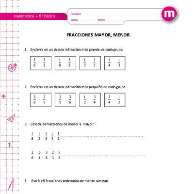 fracciones - Curriculum Nacional. MINEDUC. Chile.