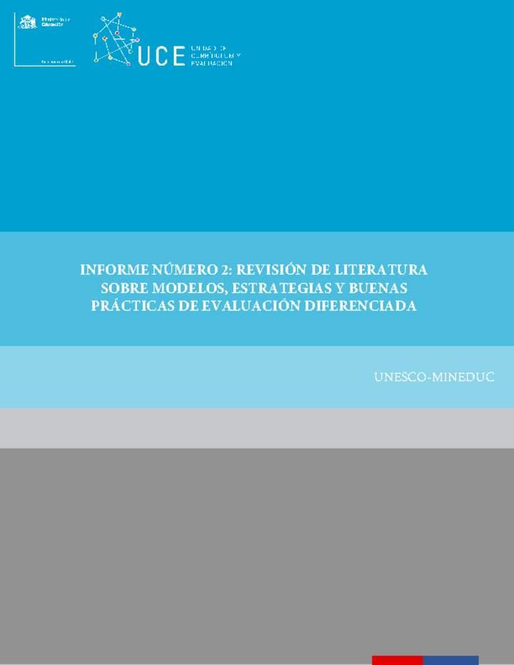 f9a6f2962 INFORME NÚMERO 2: REVISIÓN DE LITERATURA SOBRE MODELOS, ESTRATEGIAS ...