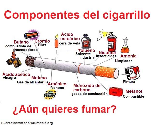 Infografía componentes del cigarrillo - Aprendo en Línea - DOCENTE.  Currículum Nacional. Mineduc. Gobierno de Chile Chile